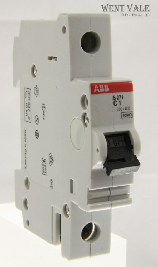 ABB - S271 - 1a Type C Single Pole MCB Used